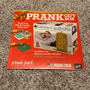 Prank Pack Joke Funny Gift Box EARWAX CANDLE KIT
